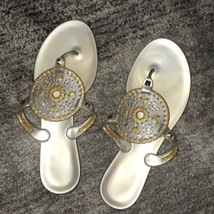 Gently worn Jack Roger jelly sandals